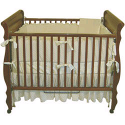 Designer Minky Dot & Satin Crib Bedding Set