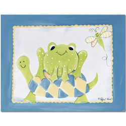 Doodlefish Frog and Turtle Wall Art
