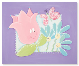 Doodlefish Garden Pals Canvas Art