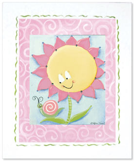 Doodlefish Sunny Flower Artwork