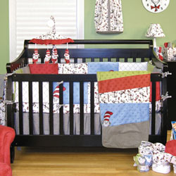 Trend Lab, LLC Dr. Seuss Cat in the Hat Crib Bedding