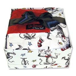 Trend Lab, LLC Dr. Seuss Cat in the Hat Blanket Gift Set