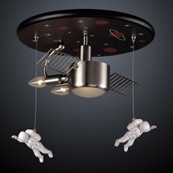 Astronaut Flush Mount Light