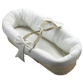 Baby Doll Eyelet Fitted Baby Moses Basket