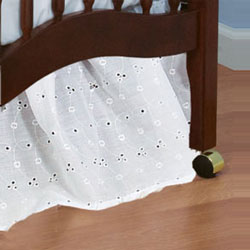 Baby Doll Portable Crib Eyelet Dust Ruffles