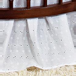 Baby Doll Round Crib Eyelet Dust Ruffles