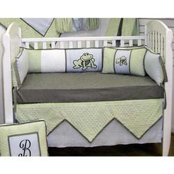 Frog Fantasy 4 Piece Crib Bedding Set