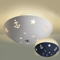 Starlight Anchors Ceramic Ceiling Light