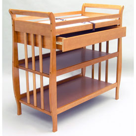 Angel Line Flat Slat Sleigh Changer With Drawer