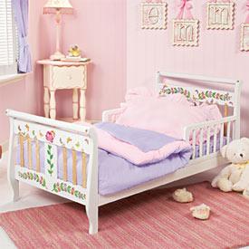Flower Power Toddler Bed