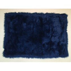 Flokati Rug Collection-Dark Blue