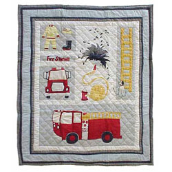 Patch Magic Group Firetruck Throw