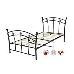 Black Metal Youth Twin Bed