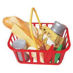Full Size Grocery Items Basket
