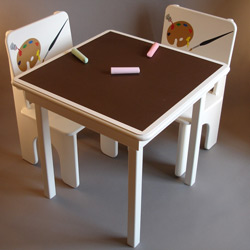 Artsy Chalkboard Table and Chair Set