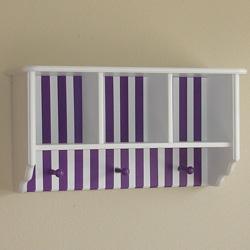 Colorful Stripes Single Wall Shelf
