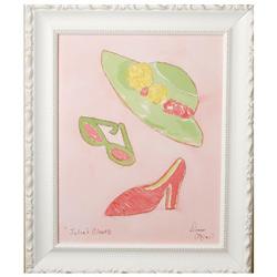 Green Frog Art Julia's Closet I Artwork