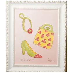 Green Frog Art Julia's Closet II Artwork