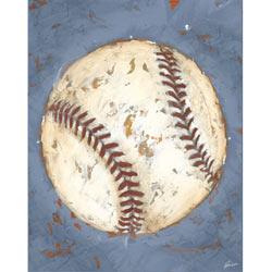 Green Frog Art Game Day - Baseball Artwork