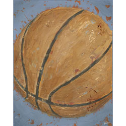 Green Frog Art Game Day - Basketball Artwork