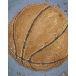 Green Frog Art Game Day - Basketball Artwork