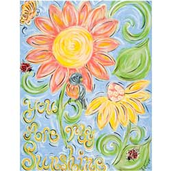 Green Frog Art You are My Sunshine Artwork