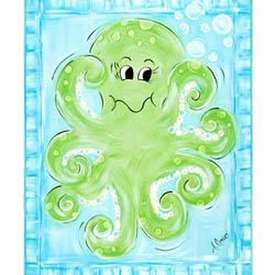 Green Frog Art Octopus Wall Art