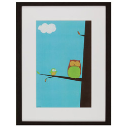 Green Frog Art Tree Top Owl II