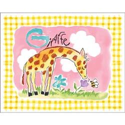 Art4Kids/Creative Images Gingham Giraffe Wall Art