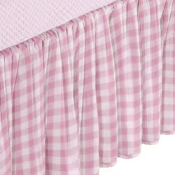 Baby Doll Round Crib Gingham Dust Ruffles