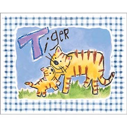 Art4Kids/Creative Images Gingham Tiger Wall Art