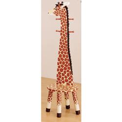 Giraffe Stool with Coat Stand