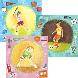 Oopsy Daisy/No Boundaries Soccer Star – Girl Stretched Art