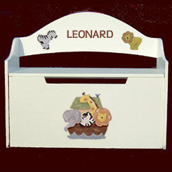 Personalized Handpainted Noah's Ark Toy Box