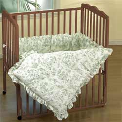Baby Doll Toile Portable Crib Bedding