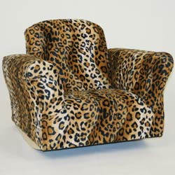Hannah Baby Leopard Print Standard Rocker