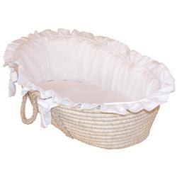 Hoohobbers Pristine White Moses Basket