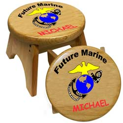 Personalized Marines Stool