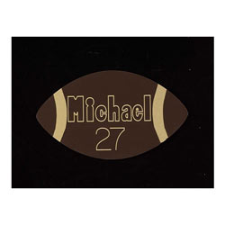 Name Engraved Football