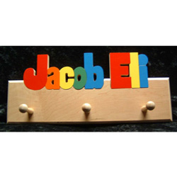 Personalized 2 Name Coat Rack
