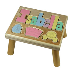 Princess Puzzle Name Stool 9-12 Letters