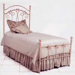 Corsican Bow Iron Twin Bed