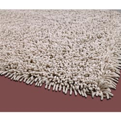 Beige Premium Cotton Shag Rug