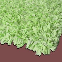 Green Jersey Shag Rug