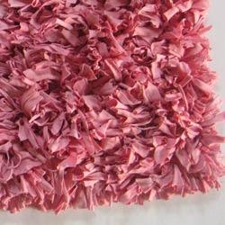Pink Jersey Shag Rug