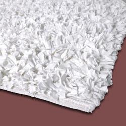 White Jersey Shag Rug