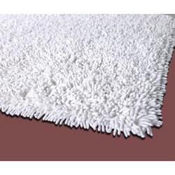 White Premium Cotton Shag Rug