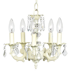 Jubilee 5 Arm Bow Shade Chandelier