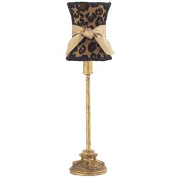 Jubilee Antique Gold Leopard Lamp