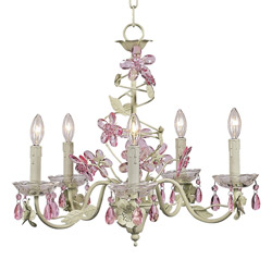 Jubilee Crystal Flower 5 Arm Chandelier